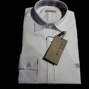 BURBERRY BRIT WHITE CLASSIC BUTTON DOWN SHIRT